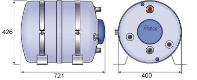 Quick Nautic Boiler B3 60 Lt.